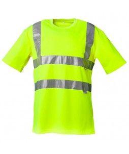 T-shirt de signalisation Planam avec tour de cou arrondi