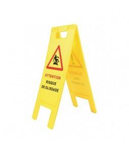 Balise pliante de signalisation pour danger de sol glissant