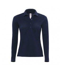 Polo SAFRAN pour femme, à manches longues et 100% coton