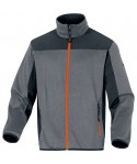 BEAVER : pull avec maille polyester et empiècement softshell