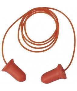 Bouchons d'oreilles haute visibilité avec cordon (200 paires)