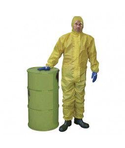 Combinaison cagoule avec double barrière chimique extérieure
