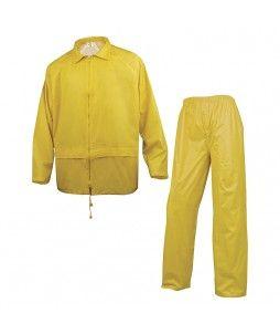 Ensemble de pluie veste et pantalon (enduit de pvc)