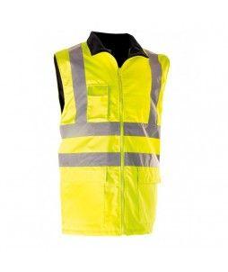 Gilet sans manches haute visibilité, en polyester Oxford 300D