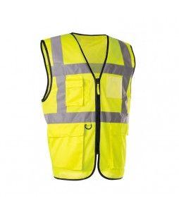 Gilet haute visibilité avec fermeture à glissière et poches