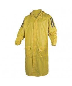 Manteau de pluie MA400, jaune et en polyester enduit PVC