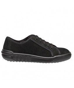 Chaussures JUSTA de sécurité en croûte de cuir velours