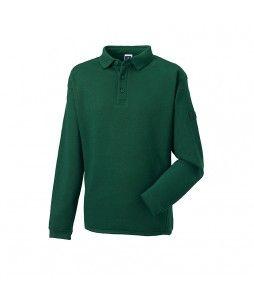 Sweatshirt avec col style polo, C/P 300g/m² (RUSSEL)