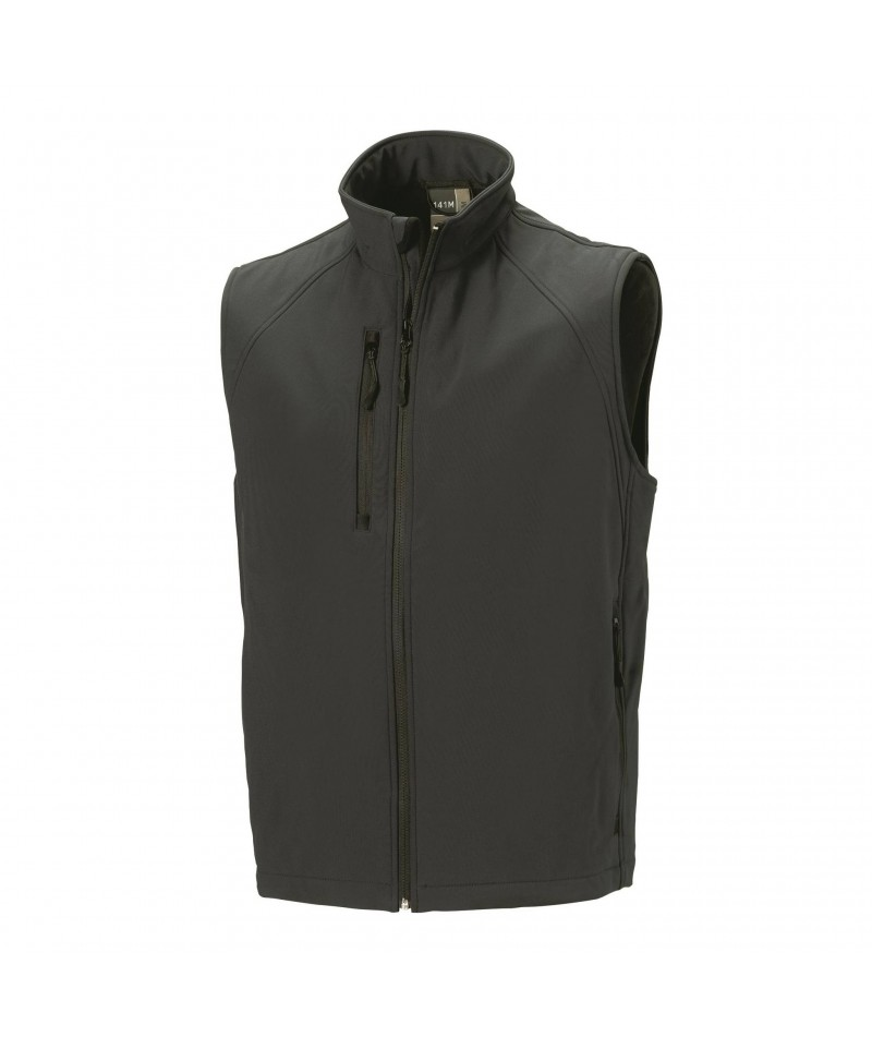 Gilet coupe-vent softshell en polyester et élasthanne