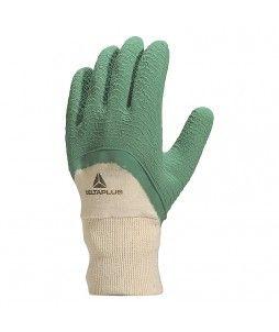 12 paires de gants en latex crépé et poignet tricot