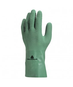 12 paires de gants en latex naturel sur support coton interlock