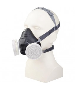 Demi-masque nu en thermoplastique pour 2 galettes
