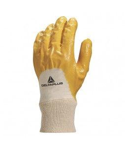 12 paires de gants en nitrile avec dos aéré et poignet tricot