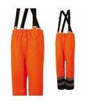 Pantalon à bretelles haute visibilité, enduit de polyuréthane