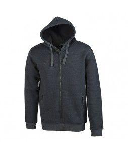 Pull-over à capuche, zippé et doublé sherpa (PENDUICK)