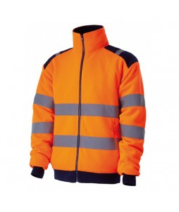 Veste polaire haute visibilité POLGA, avec doublure polyester
