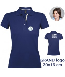 POLO Femme - Le XVCB des supporters - Grand Logo 20x16