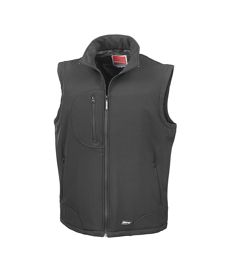 Gilet coupe-vent softshell sans manches
