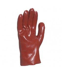 12 paire de gants en pvc rouge d'une longueur de 27cm