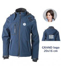 VESTE Softshell Femme - Racing 92 -Grand Logo 20x16