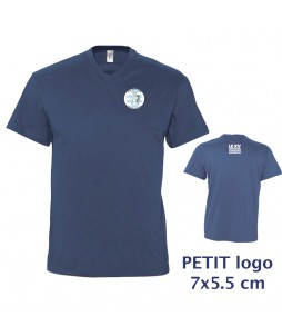 TEE-SHIRT Col V Homme - Le XVCB des supporters - Petit Logo 7x5,5