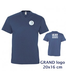 TEE-SHIRT Col V Homme - Le XVCB des supporters - Grand Logo 20x16