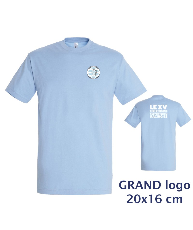 TEE-SHIRT Col rond Homme - Le XVCB des supporters - Grand Logo 20x16