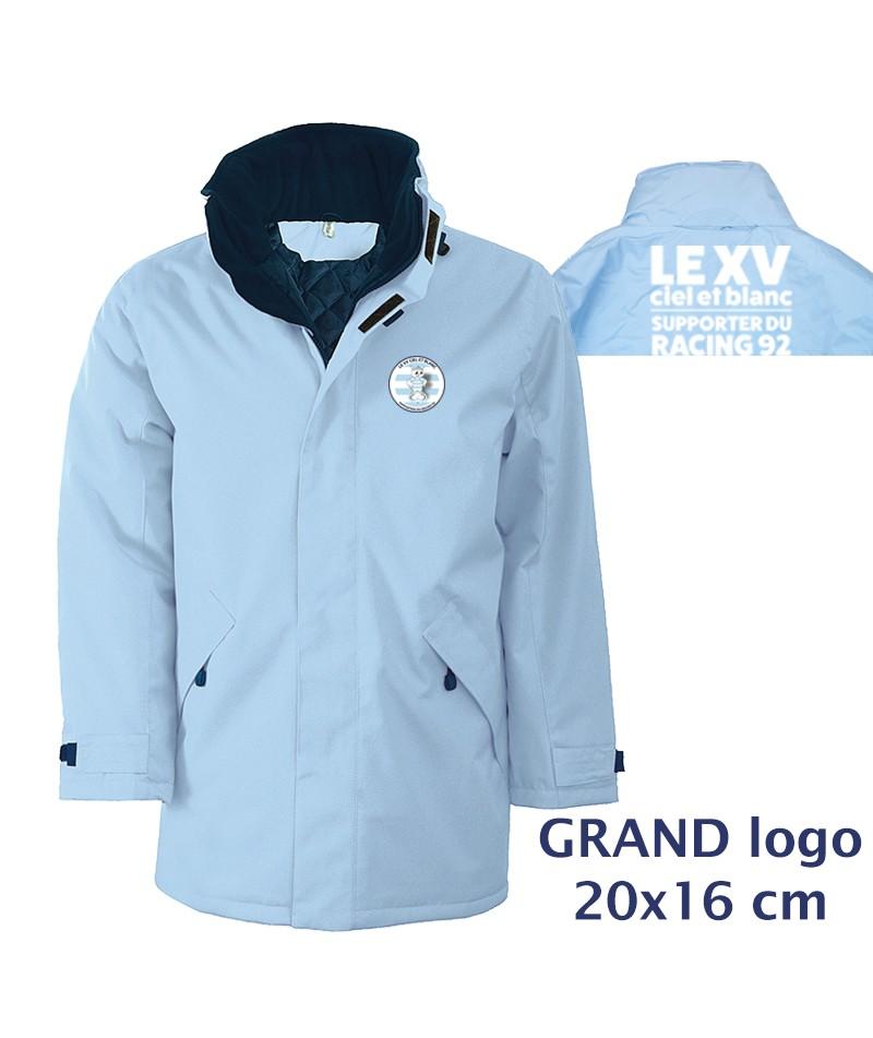 PARKA Matelassé - Le XVCB des supporters - Grand Logo 20x16