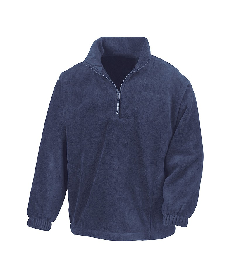 Sweat polaire RESULT avec col 1/4 de ZIP (en 100% polyester)