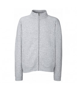 Sweat avec grand zip pour homme - Fruit Of The Loom