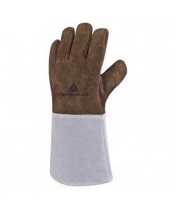 Gants de travail en cuir traités anti-chaleur (1 paire)