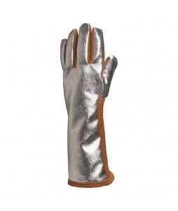 1 paire de gants soudeur en croûte de bovin et dos aluminium