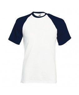 T-shirt bicolore type baseball en coton 100% (165g/m²)