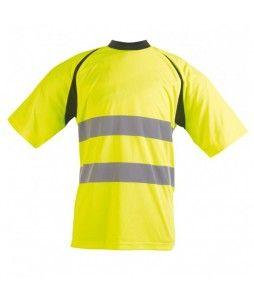 T-shirt haute visibilité SUZE, en polyester 150g et normé EN 471