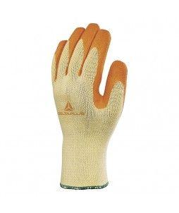 Gant tricot en coton et polyester avec paume latex