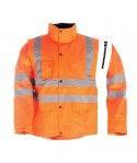 Blouson haute visibilité VIENA en polyester 100% et enduit PU