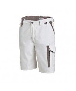 Bermuda de travail WHITE & PRO Molinel en coton/polyester