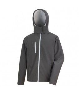 SOFTSHELL HOODED JACKET 3 couches Performance