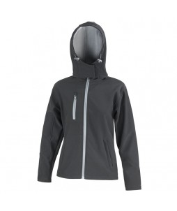 SOFTSHELL Femme HOODED JACKET 3 couches Performance
