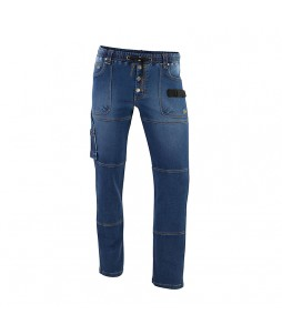Jean de travail stretch DENIM en molleton - Molinel