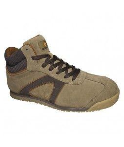 Chaussure haute D-STAR en cuir croûte velours S1P SRC (Delta+)