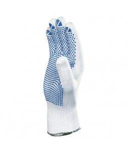 Lot de 12 paires de gants tricot en polyamide, avec picots PVC