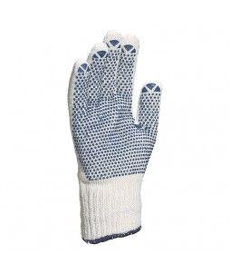 12 paires de gants tricot en polycoton et avec picots