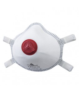Demi-masques jetables moulés FFP3 à valve (boite de 5)