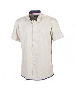 Chemise en coton homme avec manches courtes (BRANDY)