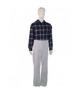 Pantalon de soudeur en cuir croute avec Taille réglable - SINGER