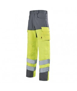 Pantalon fluo PUPIL (option genouillère) - Work Vision 2