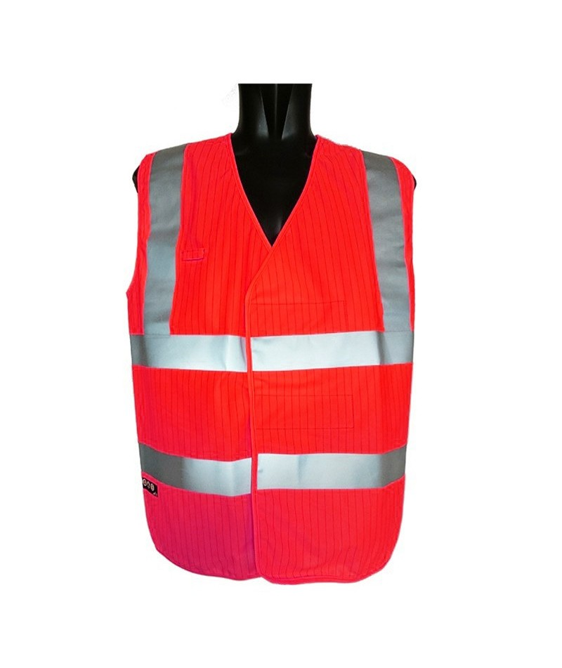 Gilet fluo multirisques pour zone ATEX