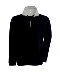 SWEAT TRUCKER Col 1/4 Zip Maille Piquée 300g