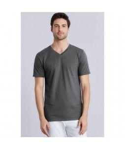 T-shirt Gildan 150g avec col v pour homme (modèle V-NECK)